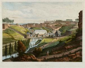 Bichebois vue Pfaffenthal côte d'Eich 1853